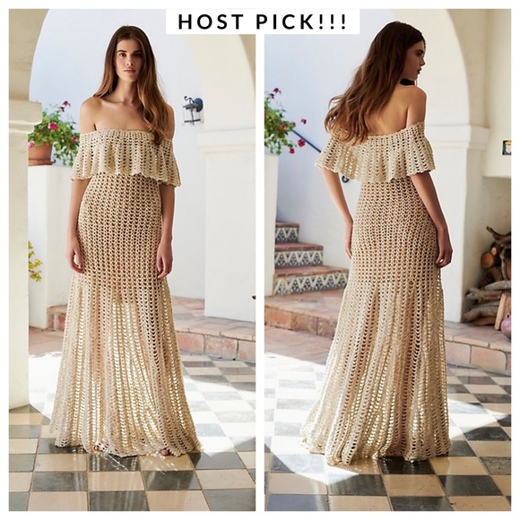Free People Dresses & Skirts - FREE PEOPLE Designer Maxi Woven Dress Lt. Edition